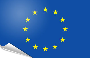 Adhesive flag European Union