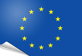 Adhesive flag European Union