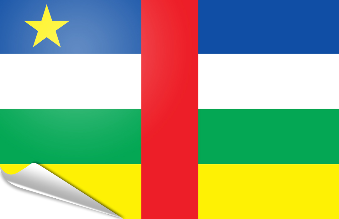 flag sticker of Central African R