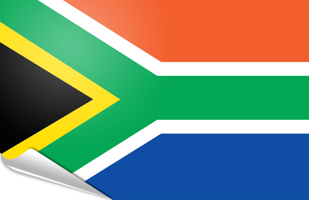 flag sticker of South Africa