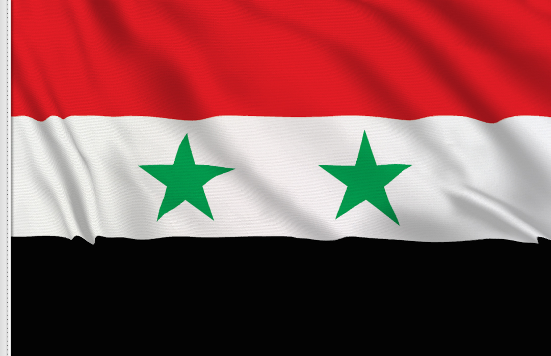 flag sticker of Syria