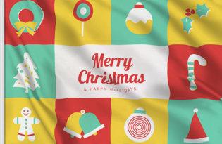 Bandera Dulce Navidad