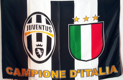 Flag Juventus Champion of Italy