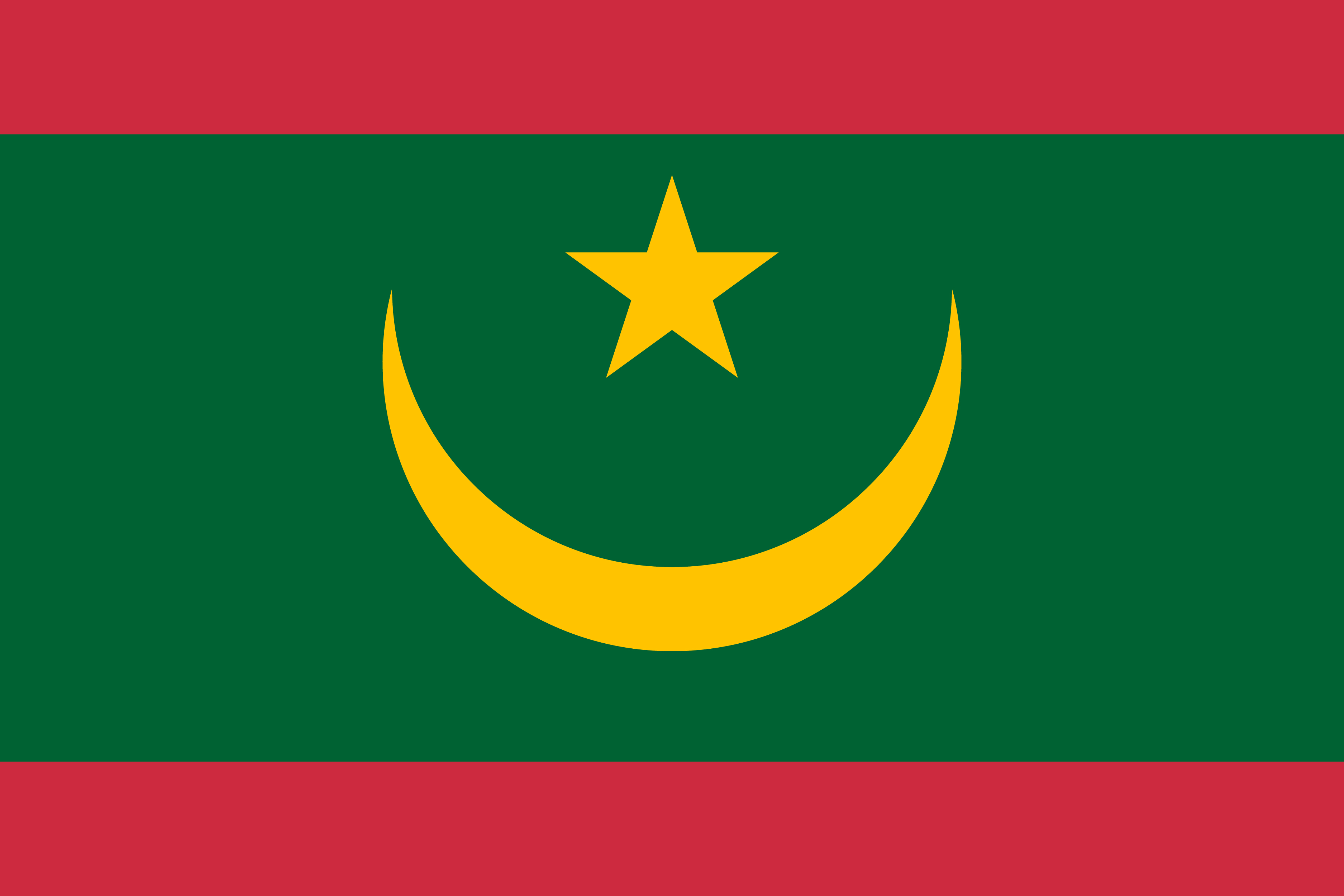 bandera adhesiva de Mauritania