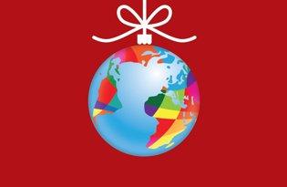 Christmas ball flag