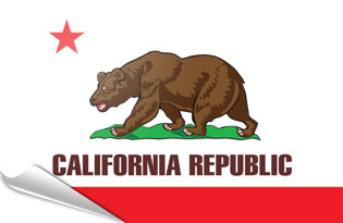 Adhesive flag California