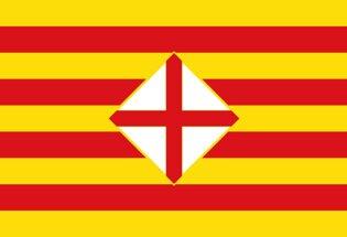 La bandera de la Provincia de Barcelona